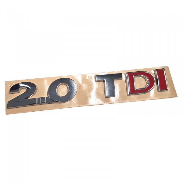 Original VW Schriftzug 2.0 TDI (rotes DI) Emblem Logo Aufkleber chrom glänzend