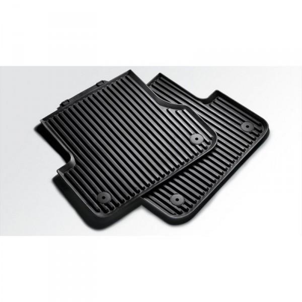 Original Audi A8 (D3 4E) Gummi Fußmatten Premium hinten Allwettermatten 4E0061511 schwarz
