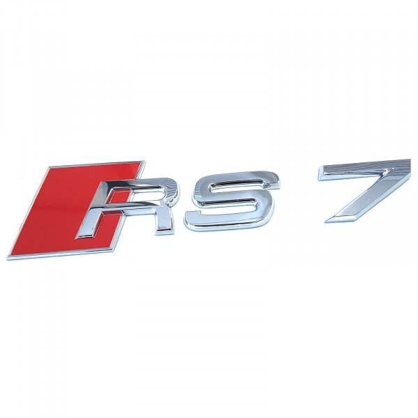 Original Audi Schriftzug RS7 Emblem Logo Aufkleber rot chrom glänzend 4G88537402ZZ