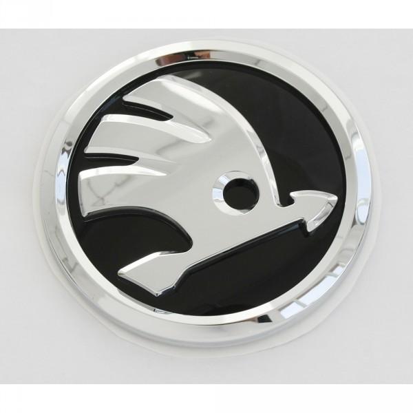 Original Skoda Fabia III (NJ) Zeichen hinten Heckklappe Emblem Logo schwarz chrom