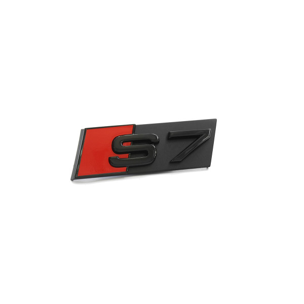Original Audi S7 Schriftzug vorn schwarz Tuning Exclusive Kühlergrill Black Edition Emblem