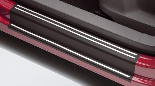 Tiguan Folien Einstiegsleisten Lackschutzfolie schwarz/silber Original VW Zubehör