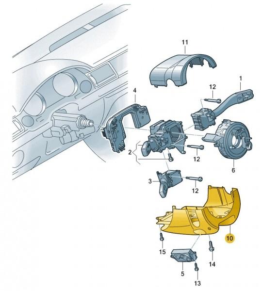 Lenksäulenabdeckung Unterteil Original Audi A6
