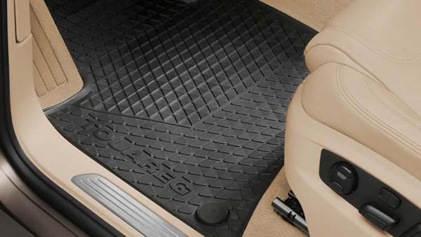 Gummifußmatten Original VW Touareg (7P) 4er Satz vorn+hinten Allwetter Fußmatten Gummi