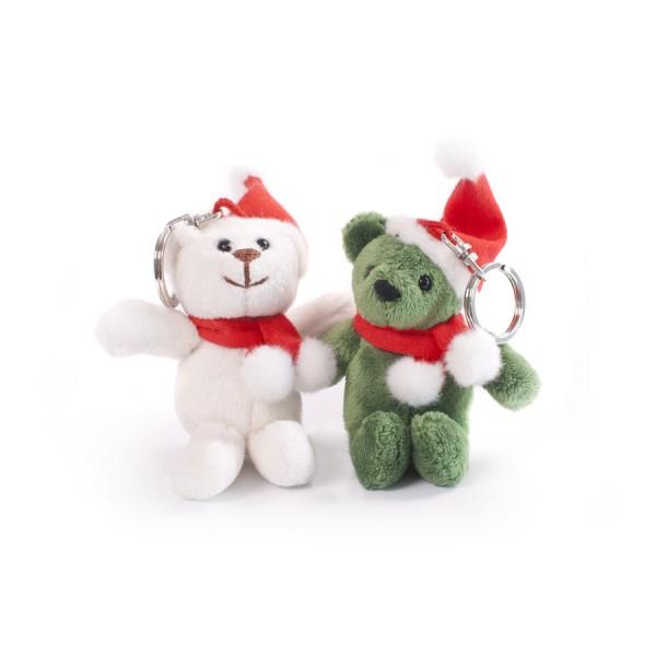 Original Skoda Schlüsselanhänger Paul und Eddy mit Weihnachtsmütze Plüschtier Keyring