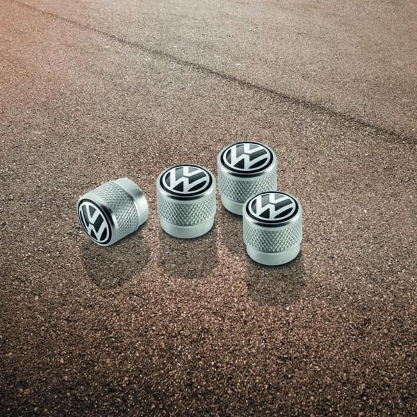VW Ventilkappen Set Original Kappen mit VW Logo Zubehör Alu