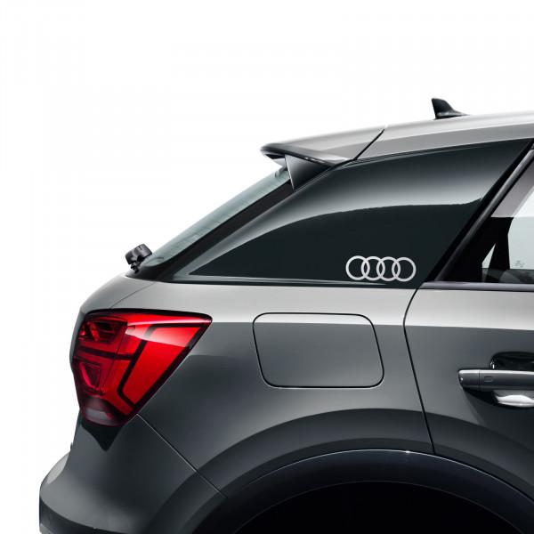 Original Audi Dekorfolie Audi Ringe florettsilber Exterieur Schriftzug Logo 8W0064317D