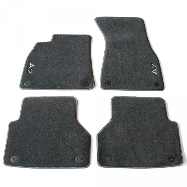 Original Audi A7 (C8 4K) Sportback Premium Textilfußmatten v+h Velours Matten schwarz