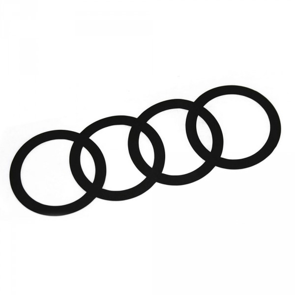 Original Audi Q2 C-Blade Dekorfolie Set Audi Ringe Exterieur Ringe Brilliantschwarz