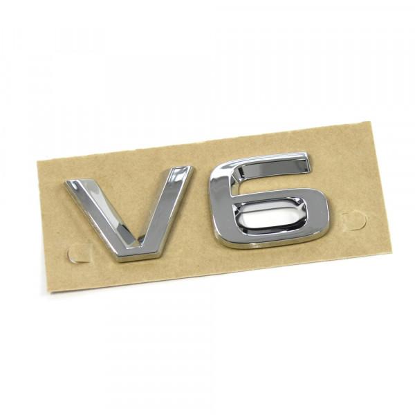 Original Skoda V6 Schriftzug hinten Heckklappe Emblem Logo chromglanz