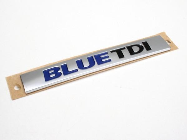 BLUE TDI Schriftzug Aufkleber Original Emblem Kühlergrill Heckklappe