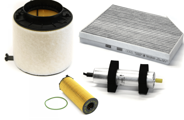Inspektionspaket Filterpaket Filtereinsatz Original Audi A4 A5 für 2.7 3.0 TDI V6 Diesel Filter