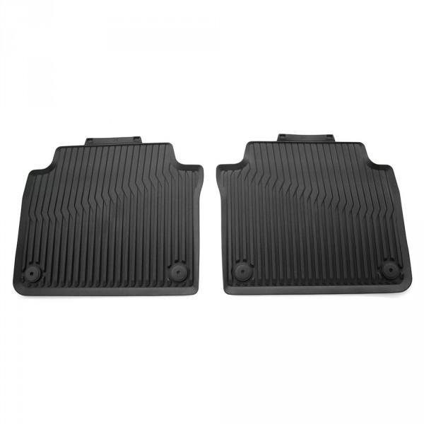 Original Audi A8 (D5 4N) Gummi Fußmatten hinten Gummimatten Allwettermatten schwarz