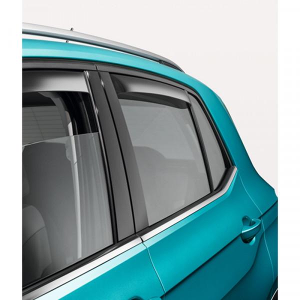 Original VW T-Cross Tür Windabweiser hinten Acrylglas getönt Windschutz