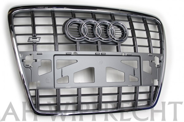 Kühlergrill Audi S6 Original A6 4F Tuning Grill Frontgrill Platiniumgrau Grau