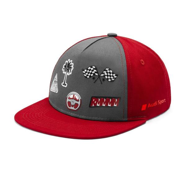 Original Audi Sport Basecap Kinder Cap Snapback Baseballcap grau/rot 3201901000