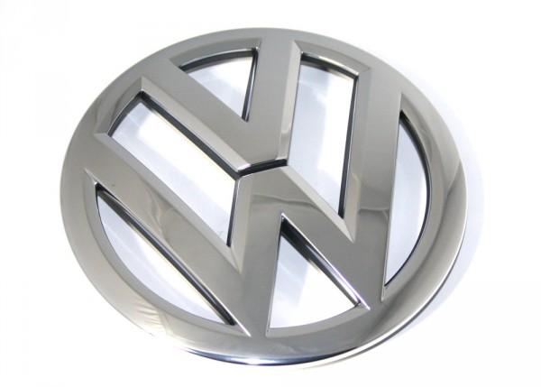 VW-Emblem für Kühlergrill Original VW Touareg 7P / Sharan Zeichen Chrom / Schwarz