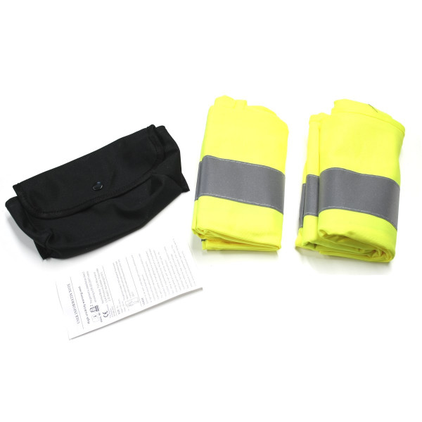 Original Audi Warnweste Sicherheitsweste gelb Unfall Sicherheit 8W0093056A