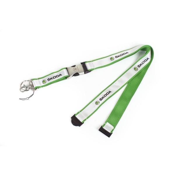 Original Skoda Schlüsselband Lanyard grün Accessoires Lifestyle
