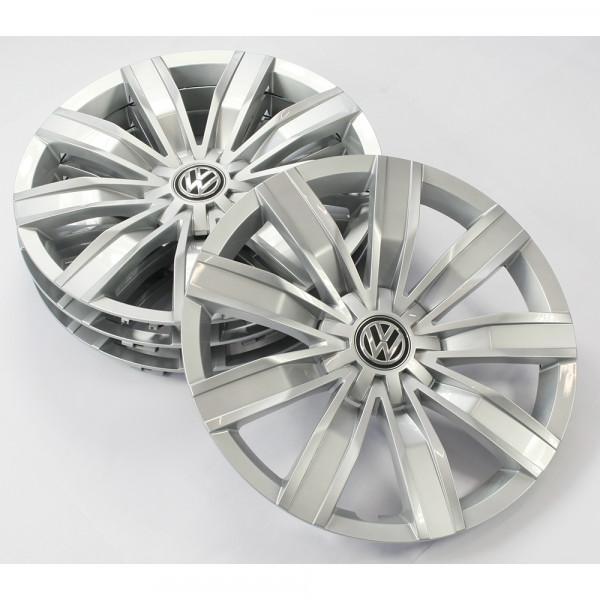 VW Tiguan MQB Radkappen Set 17 Zoll Radzierblenden Radzierkappen Brillantsilber