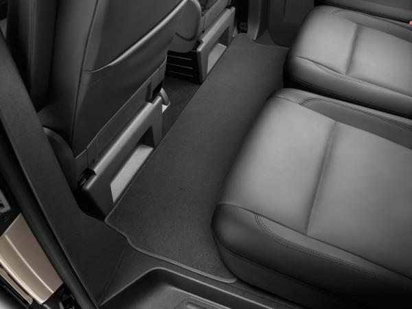 Premium Textilfußmatte hinten Original VW Transporter T5 T6 Satinschwarz Velours Fußmatte