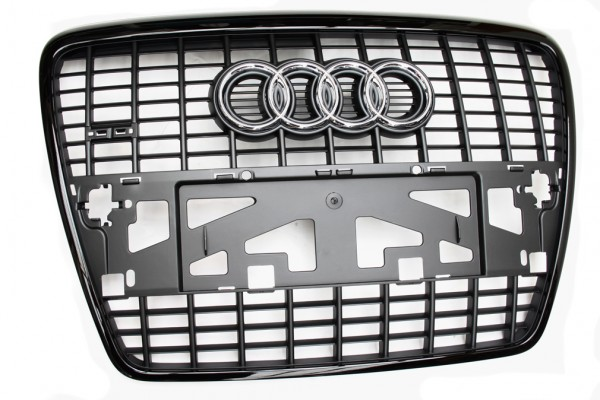 Kühlergrill Audi S6 Original A6 4F Tuning Grill Schwarz Frontgrill
