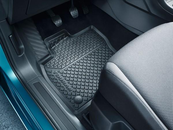 Gummifußmatten Original VW Touran Allwettermatten Titanschwarz vorn