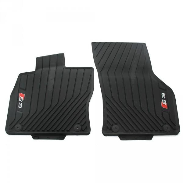 Gummi Fußmatten vorn Original Audi S3 (8V) schwarz Allwettermatten 2er Satz
