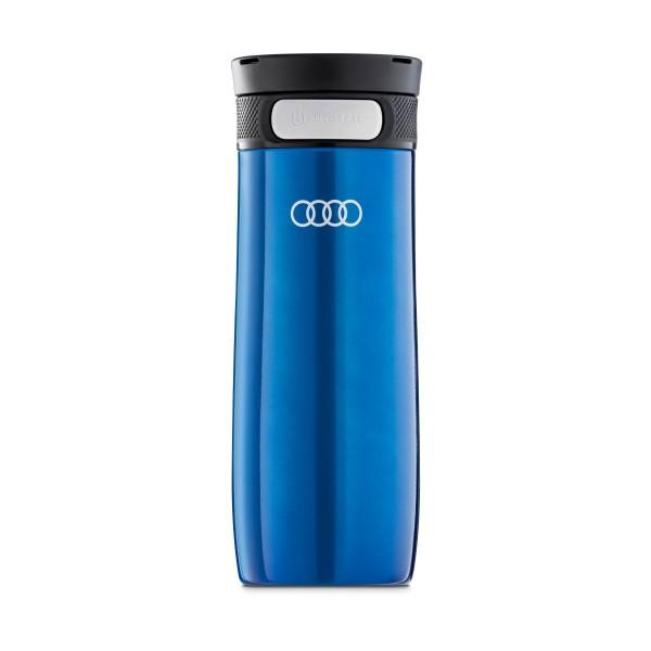 Original Audi Sport Trinkbecher Edelstahl blau Thermosflasche