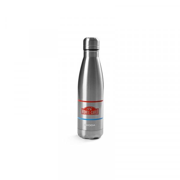 Original Skoda Edelstahl-Trinkflasche Monte Carlo 500 ml Flasche Drehverschluss