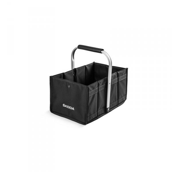 Original Skoda Einkaufskorb Einkaufstasche Korb Faltbox Tasche Box schwarz