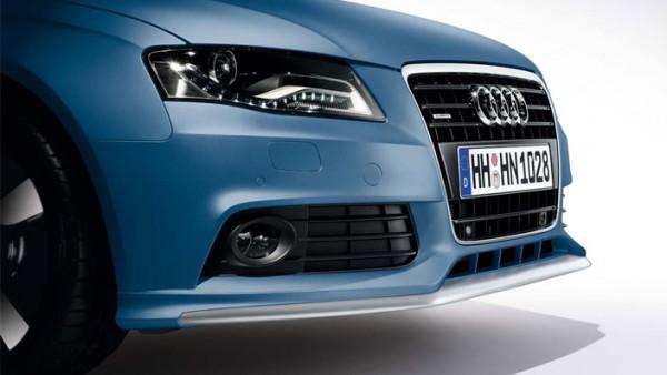 Frontschürze Audi A4 Original Frontspoiler mit Blade in Alu-Optik Tuning Original AUDI