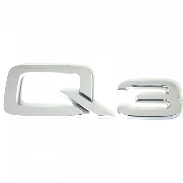 Original Audi Schriftzug Q3 Emblem Logo Aufkleber Modellbezeichnung chrom glänzend 8U08537412ZZ