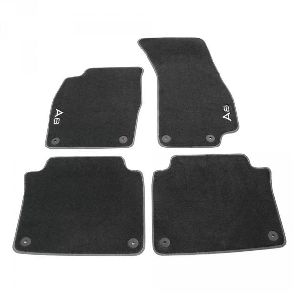 Original Audi A8 (D5 4N) Premium Textilfußmatten v+h Velours Matten schwarz