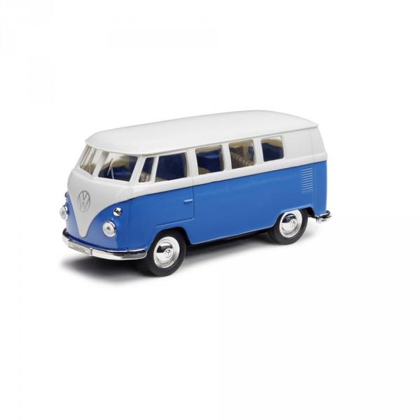 VW T1 Bulli Spielzeugauto Original Kinder Spielzeug Auto blau weiß