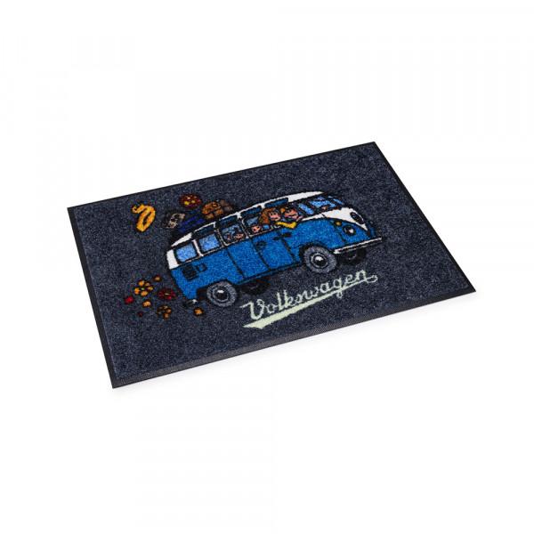 Original VW Fußbodenmatte T1 Motiv Fußabtreter schwarz blau Accessoires
