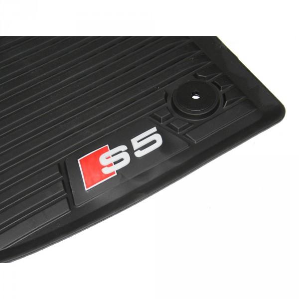 Original Audi S5 (B9) Sportback Fußmatten vorn Gummi Allwettermatten 2-teilig
