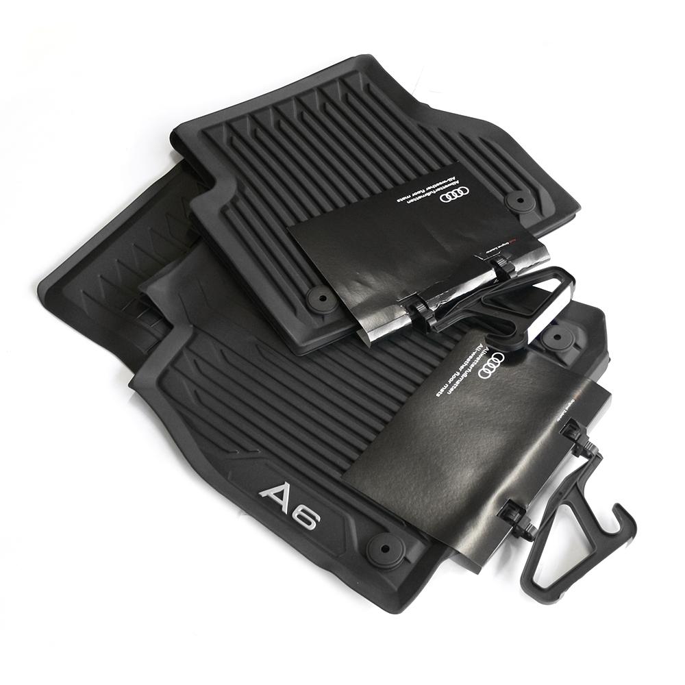 Audi 4K1061501041 Premium Gummi Fu/ßmatten 2X vorn Gummimatten Allwettermatten schwarz mit A6 Schriftzug