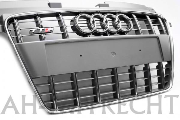 Original Audi TTS 8J Tuning Kühlergrill chrom / platiniumgrau