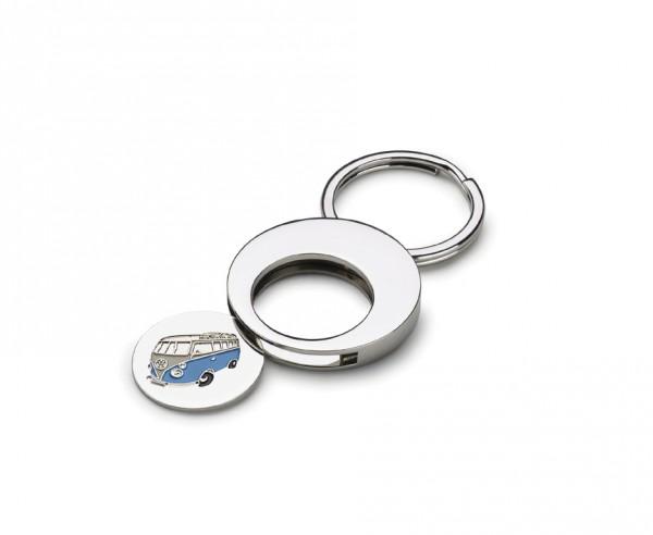 Schlüsselanhänger Bulli T1 Transporter Einkaufswagenchip Pfandchip Münze Anhänger
