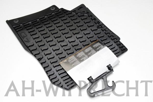 Original Audi Q7 4L Gummi Fußmatten schwarz Allwettermatten vorn
