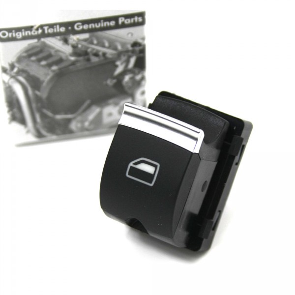 Original Audi Schalter Fensterheber Chrom Fensterheberschalter 1-fach Alu schwarz