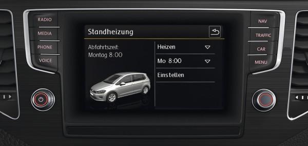 Original VW Golf Standheizung mit Klimabedienteil TDI Nachrüstung Komplettsatz 5G0054960AD