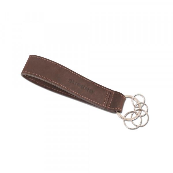 Original Skoda Superb Leder Schlüsselanhänger Karabiner Schlüsselring Accessoires