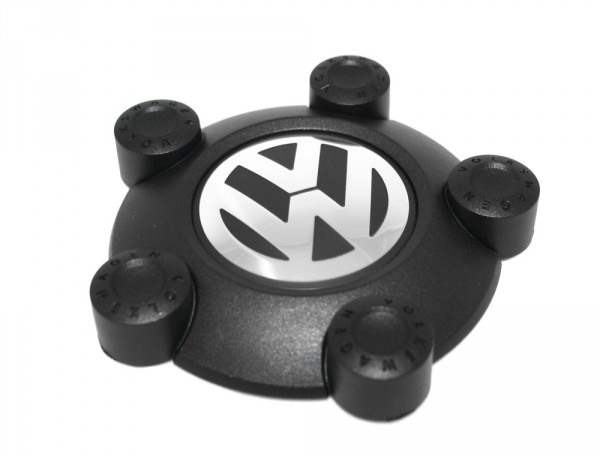 Zierkappe Original VW Caddy Tiguan Radzierkappe Stahlfelge Satinschwarz Chromglanz