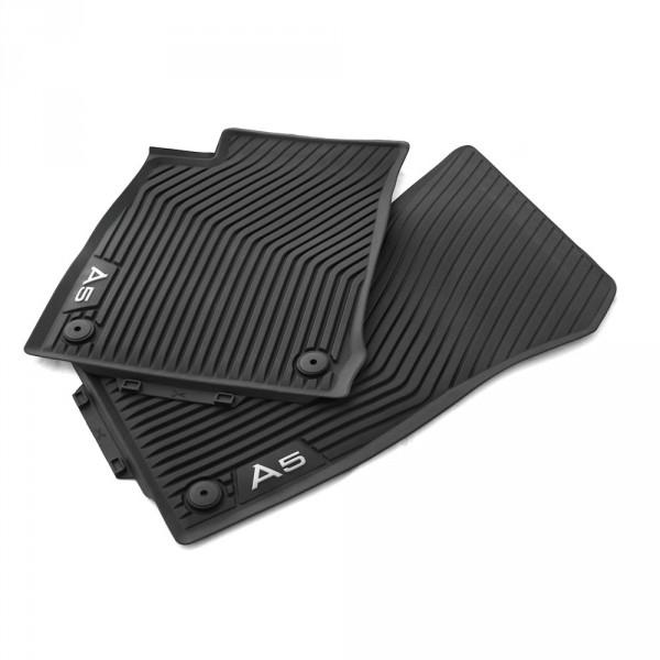 Original Audi A5 (B9) Sportback Gummi Fußmatten vorn Gummimatten Allwettermatten schwarz
