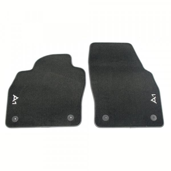 Original Audi A1 (GB) Sportback Premium Textilfußmatten vorn Velours Matten schwarz