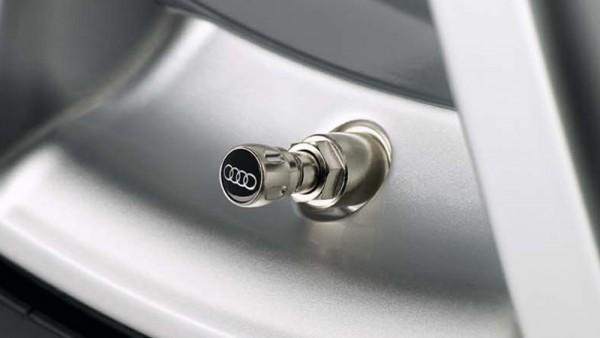 Ventilkappen Audi Logo Ringe Original Kappen Gummiventil Metallventil 4L0071215