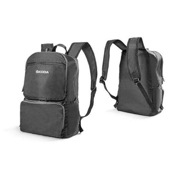Original Skoda Faltbarer Rucksack mit Trägern grau Accessoires Backpack Lifestyle