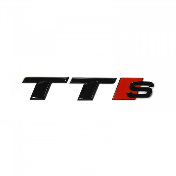 Original Audi TTS Schriftzug schwarz Tuning Exclusive Black Edition Emblem 8S0071804